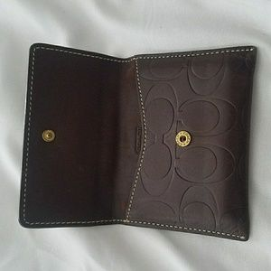 Coach Leather credit card wallet